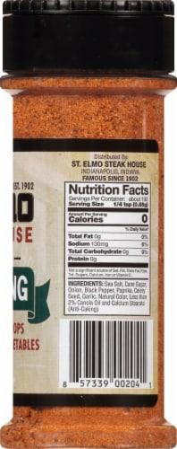 St. Elmo Steak House World Famous Seasoning Perspective: right