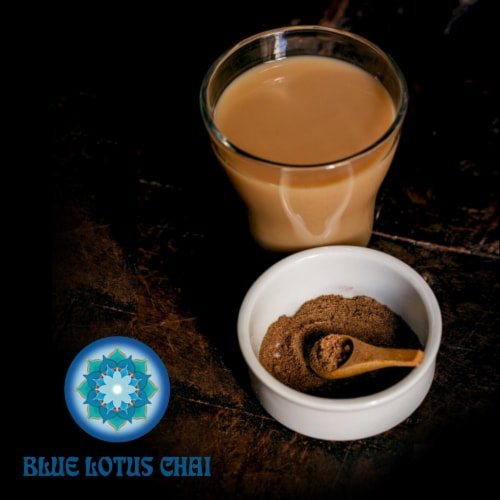 Blue Lotus Chai Traditional Masala Chai Powder, 1 Pound Bulk Bag, Makes 530 cups Perspective: right