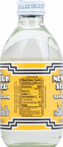 Original New York Seltzer Vanilla Cream Soda Perspective: right