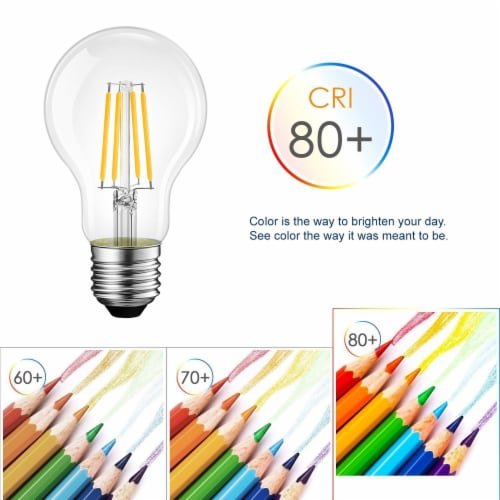 Vintage Style 60W Equivalent Warm White A19 LED Light Bulb Perspective: right