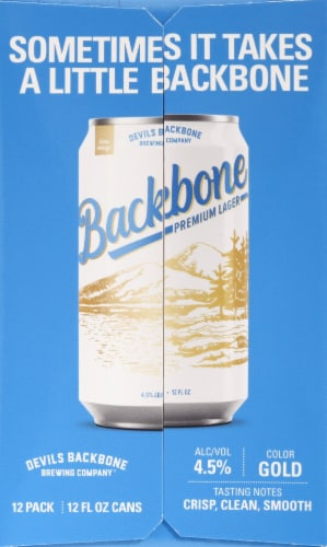 Devils Backbone Brewing Company Backbone Premium Lager Perspective: right