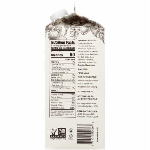 Milkadamia Unsweetened Macademia Milk Perspective: right