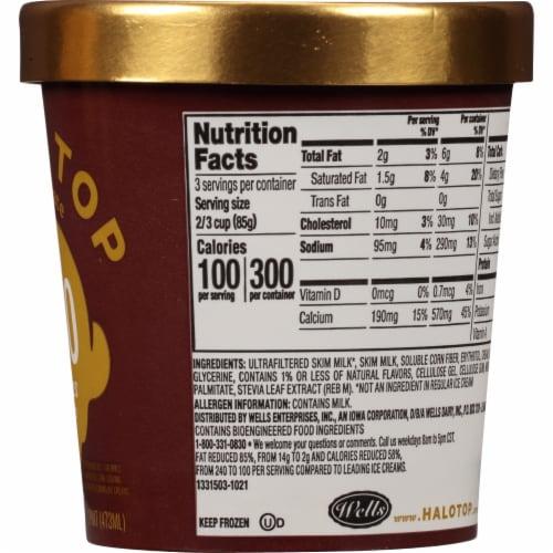 Halo Top® Chocolate Light Ice Cream Perspective: right