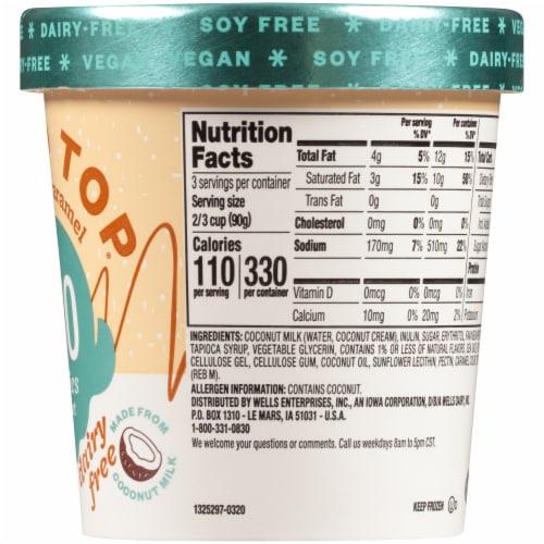 Halo Top Dairy-Free Soy-Free Vegan Sea Salt Caramel Frozen Dessert Perspective: right