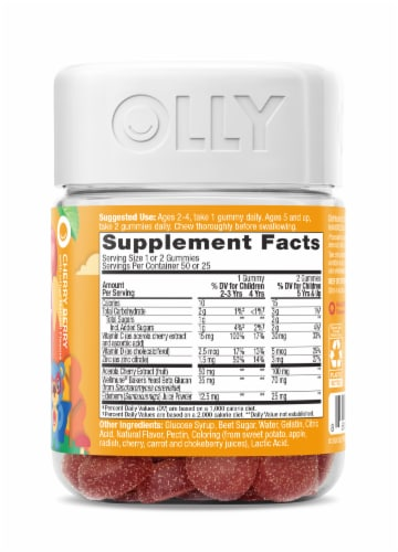 Olly Kids Immunity Dietary Supplement Gummies Perspective: right