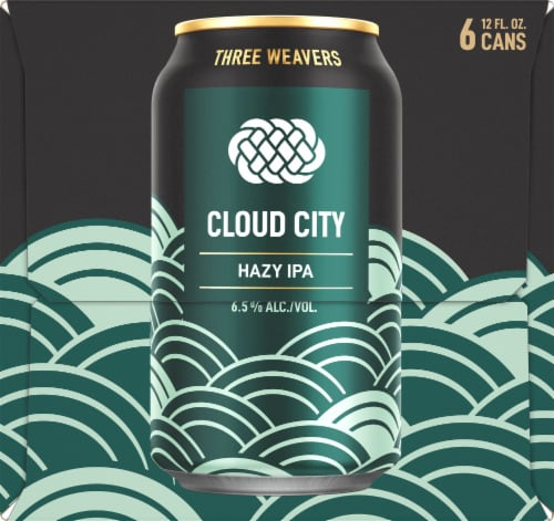Three Weavers Brewing Cloud City Hazy IPA Perspective: right