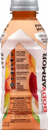 BODYARMOR Lyte Peach Mango Sports Drink Perspective: right
