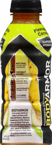 BODYARMOR SuperDrink Pineapple Coconut Sports Drink Perspective: right