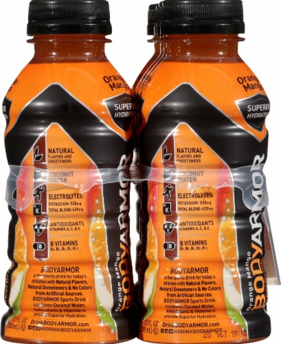BODYARMOR SuperDrink Orange Mango Sports Drink Perspective: right