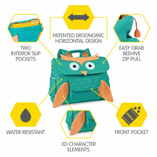 Bixbee Animal Pack Small Owl Backpack Perspective: right