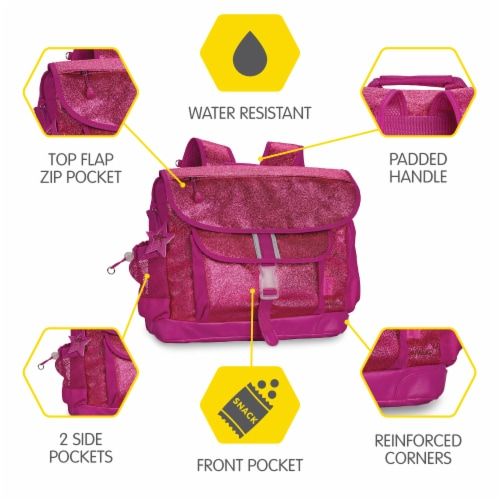 Bixbee Large Sparkalicious Backpack - Ruby Raspberry Perspective: right