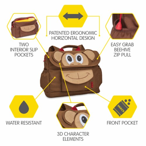 Bixbee Animal Pack Small Monkey Backpack Perspective: right