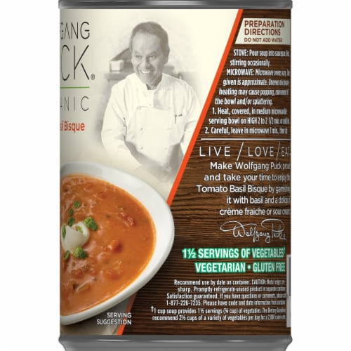 Wolfgang Puck Organic Tomato Basil Bisque Soup Perspective: right