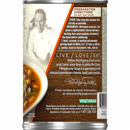 Wolfgang Puck Organic Classic Minestrone Soup Perspective: right