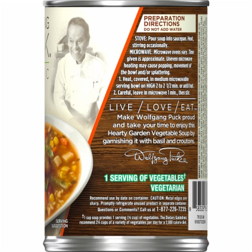 Wolfgang Puck Organic Hearty Garden Vegetable Soup Perspective: right