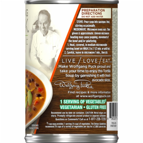 Wolfgang Puck Organic Signature Tortilla Soup Perspective: right