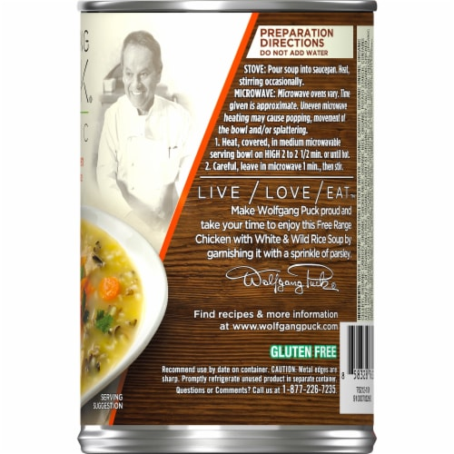 Wolfgang Puck Organic Chicken Wild Rice Soup Perspective: right
