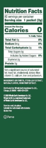 Whole Earth Stevia Leaf & Monk Fruit Natural Sweetener Packets Perspective: right