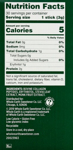 Whole Earth Infusions Stevia & Monk Fruit Sweetener Sticks Perspective: right