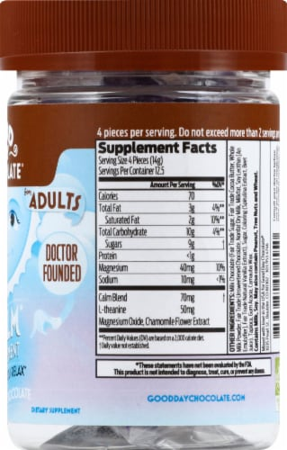 Good Day Chocolate Calm Supplement for Adults Perspective: right
