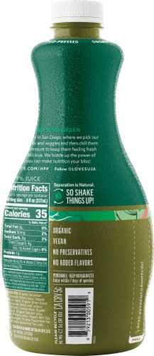 Suja Organic Uber Greens Cold-Pressed Fruit & Vegetable Juice Perspective: right