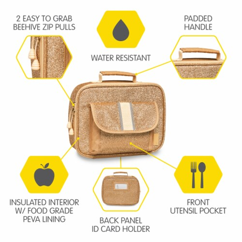 Bixbee Sparkalicious Lunchbox - Gold Perspective: right