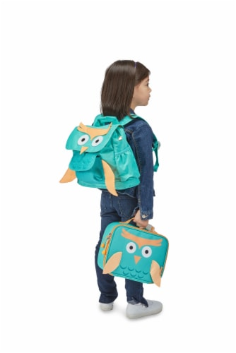 Bixbee Animal Pack Owl Lunchbox Perspective: right