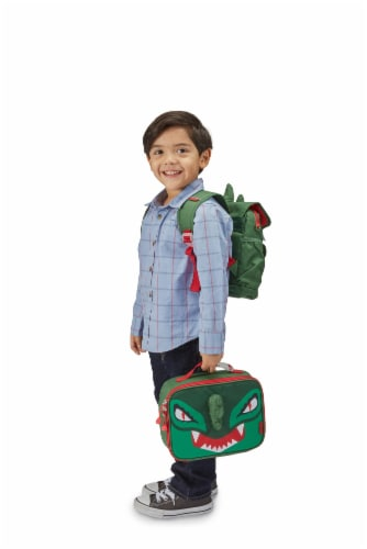 Bixbee Animal Pack Dino Lunchbox Perspective: right