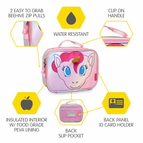 Bixbee Animal Pack Unicorn Lunchbox Perspective: right