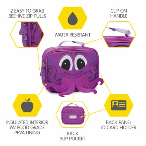 Bixbee Animal Pack Octopus Lunchbox Perspective: right