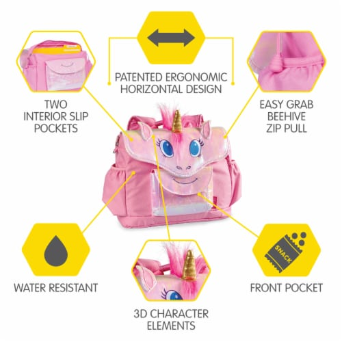 Bixbee Animal Pack Small Unicorn Backpack Perspective: right