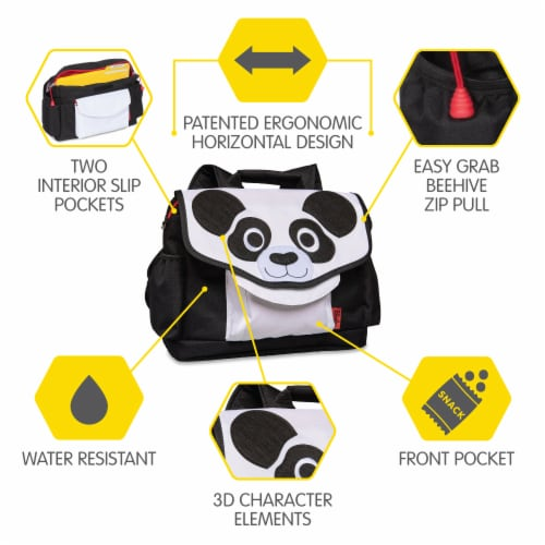 Bixbee Animal Pack Small Panda Backpack Perspective: right