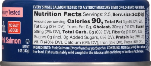 Safe Catch Pacific Wild No Salt Added Pink Salmon Perspective: right