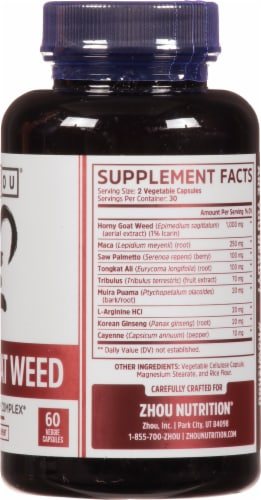 Zhou® Horny Goat Weed Vitamin Supplements Perspective: right