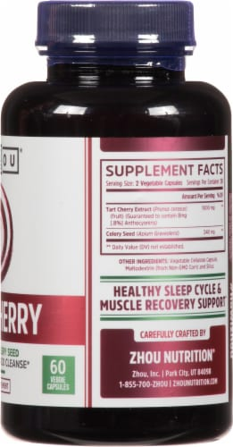 Zhou® Tart Cherry Extract + Celery Seed Perspective: right