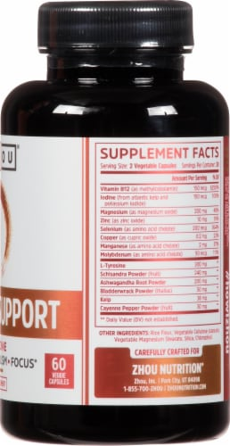 Zhou®  Thyroid Support with Iodine Perspective: right
