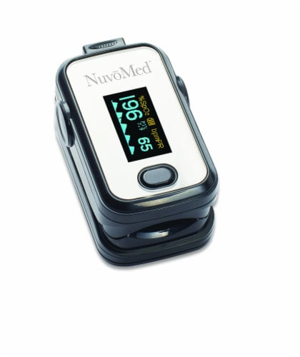 NuvoMed Fingertip Blood Oxygen Pulse Oximeter Perspective: right