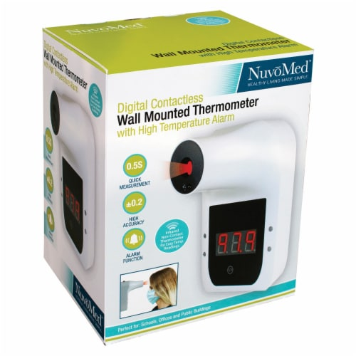 NuvoMed WMT-6/0929 Wall-Mounted Thermometer Perspective: right