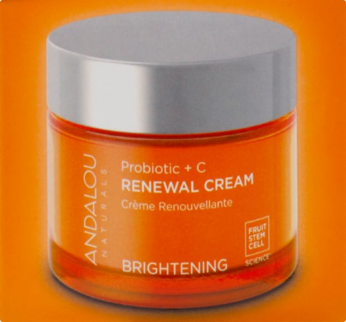 Andalou Naturals Probiotic + C Brightening Renewal Cream Perspective: right