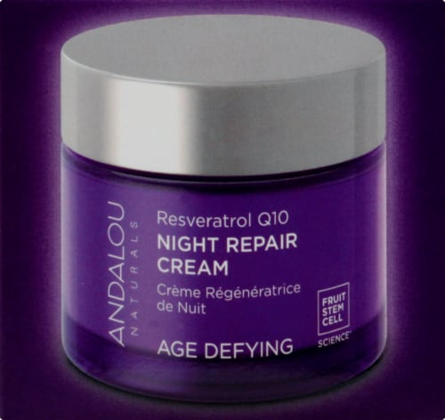 Andalou Naturals Age Defying Resveratrol Q10 Age Defying Night Repair Cream Perspective: right