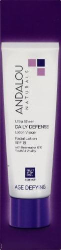 Andalou Naturals Ultra Sheer Daily Defense Facial Lotion SPF 18 Perspective: right