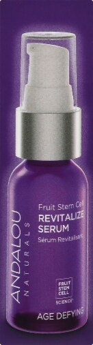 Andalou Naturals Fruit Stem Cell Revitalize Serum With Resveratrol Perspective: right