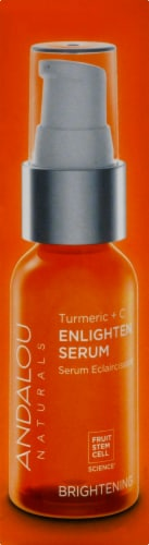 Andalou Naturals Turmeric & C Enlighten Serum with Vitamin C Brightening Perspective: right