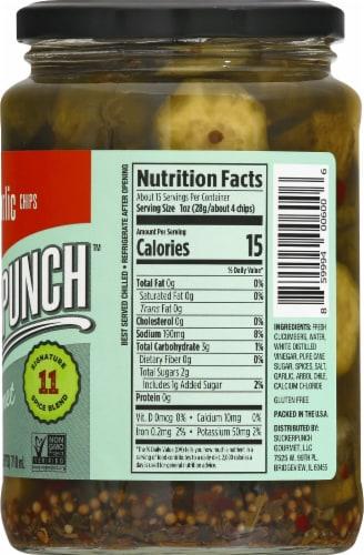 Suckerpunch Spicy Garlic Gourmet Pickles Perspective: right