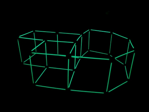 Funphix Glow in the Dark Fort Building Kit - Orange/Yellow Perspective: right