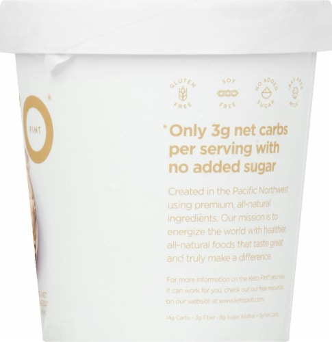 Keto Pint Coffee Ice Cream Perspective: right