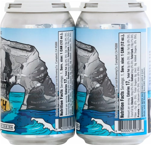 Surreal Brewing Company Natural Bridges Kolsch Style Malt Beverage Perspective: right