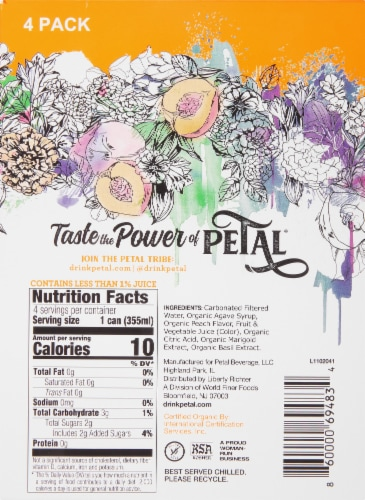 Petal Peach Marigold Sparkling Water Perspective: right