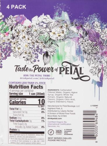 Petal Elderberry White Tea Flower Sparkling Water Perspective: right