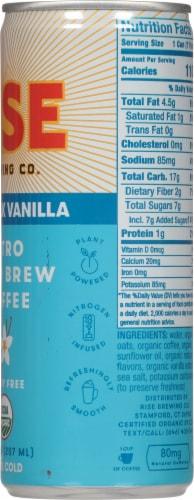 Rise Brewing Co Oat Milk Vanilla Nitro Cold Brew Coffee Perspective: right